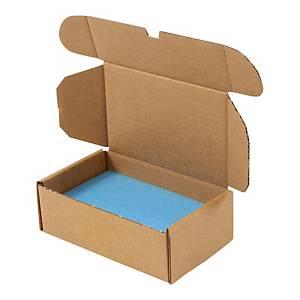 Skumgummi til postæske, 172 x 108 x 15/25 mm, blå, pakke a 100 stk.