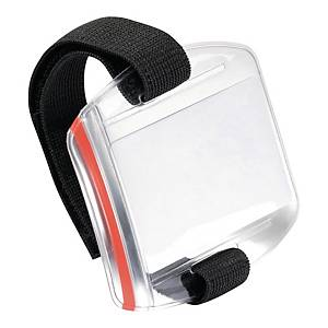 Durable Arm Band Badge Holder Transparent - Pack of 10