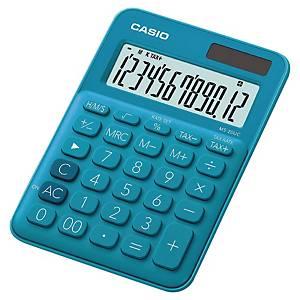 Lommeregner Casio MS-20UC, blå, 12 cifre