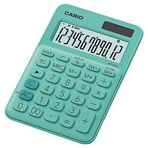 Casio MS-20UC rekenmachine voor kantoor, groen, 12 cijfers