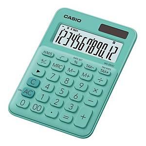 CASIO MS-20UC 迷你桌面計算機 12位 綠色
