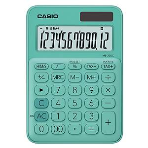 CASIO เครื่องคิดเลขชนิดตั้งโต๊ะ MS-20UC 12 หลัก สีเขียวมิ้นท์