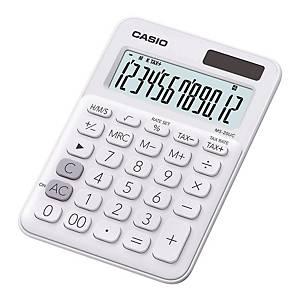 CASIO MS-20UC 迷你桌面計算機 12位 白色