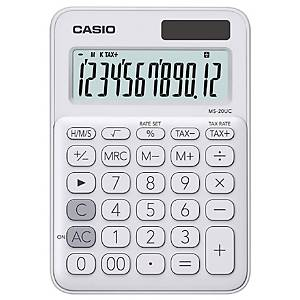 CASIO เครื่องคิดเลขชนิดตั้งโต๊ะ MS-20UC 12 หลัก สีขาว