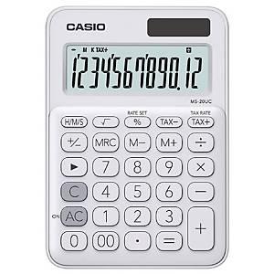 CASIO เครื่องคิดเลขชนิดตั้งโต๊ะ รุ่น MS-20UC 12 หลัก สีขาว