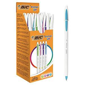 Kugelschreiber BiC Cristal Up, Strichbreite 0,42 mm, ass., Packung à 20 Stück