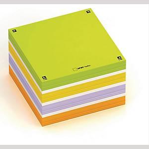 Kubusblok Oxford Digital Memo Notes, 75 x 75 mm, assorterede farver