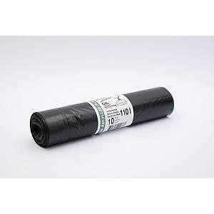 Müllbeutel mit Zugband LD/PE TopPac 20278, 110 l, Rolle à 10 Beutel