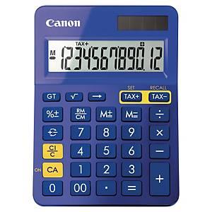 Tischrechner Canon LS-123K, 12stellig, Solar-/Batteriebetrieb, lila