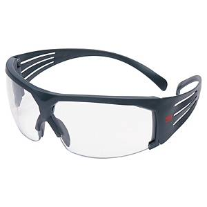 Schutzbrille 3M SF601SGAF SecureFit, Filtertyp 2C, grau, Scheibe farblos