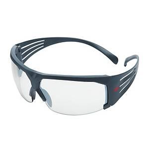 3M SF601SGAF Safety Glasses, SecureFit, filter type 2C, grey, clear lenses