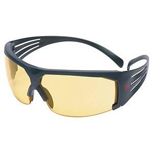 Schutzbrille 3M 603 SecureFit, Polycarbonat, gelb