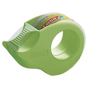 Tesa® Mini plakbandhouder, gerecycled plastic, plus 2 rollen Eco &Clear plakband
