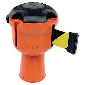 SKIPPER Absperrungssystem-Modul orange mit Gurtband schwarz/gelb 9 m