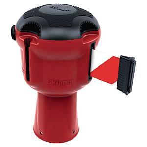 Väggkassett Skipper röd m. röd/vit tejp