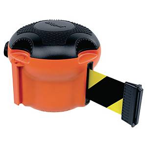 SKIPPER XS Absperrungssystem-Modul orange mit Gurtband schwarz/gelb 9 m