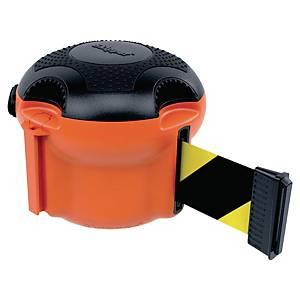 Kaseta z taśmą ostrzegawczą Skipper Xs, pomarańczowa z czarno-żółtą taśmą, 9 m