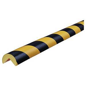 Kantenschutz rund, 40x25 mm, Länge: 5 m, schwarz/gelb