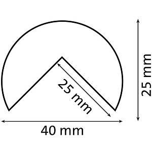 Knuffi Type A reunasuoja PU 5m musta/keltainen