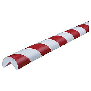 Knuffi hoekprofiel, type A, 1 meter, rood/wit, per stuk