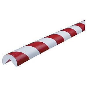 Vinkelbeskyttelse Knuffi, Type A, PU, 1 m, rød/hvid
