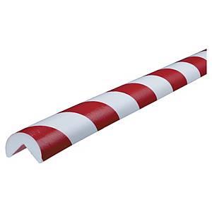 Protetor de cantos tipo A Knuffi - 1 m x 40 mm x 25 mm - vermelho/branco