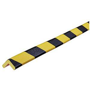 Knuffi Type E reunasuoja PU 1m musta/keltainen