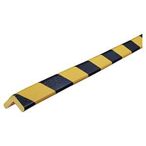 Profilé d'angle Knuffi, type E, 1 mètre, jaune/noir, la pièce