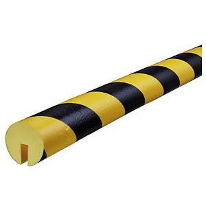 Knuffi Type B reunasuoja PU 1m musta/keltainen