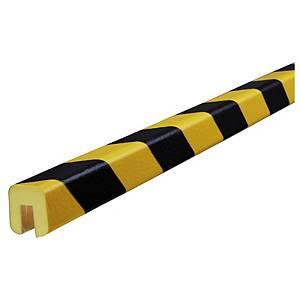Knuffi Type G reunasuoja PU 1m musta/keltainen