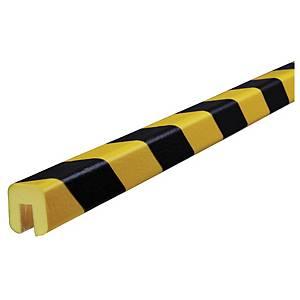 Knuffi Type G reunasuoja PU 5m musta/keltainen
