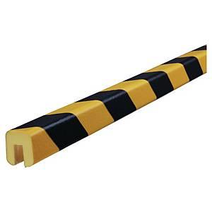 Protector bordes tipo G Knuffi - 5 m x 26 mm x 19 mm - negro/amarillo