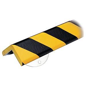 Profilé d angle renforcé Knuffi, type H+, 1 mètre, jaune/noir, la pièce