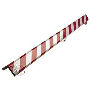 Kantenschutz, 70x70 mm, Länge: 1 m, reflektierend, rot/weiss