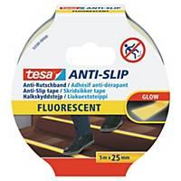 Antirutschband Tesa 55587, 25mm x 5m, floureszierend