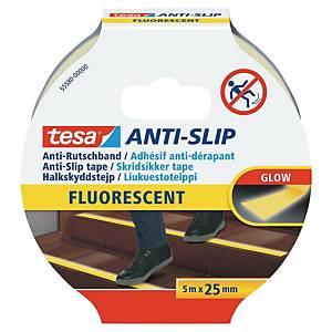 Ruban adhésif fluorescent antidérapant Tesa 55580, le rouleau