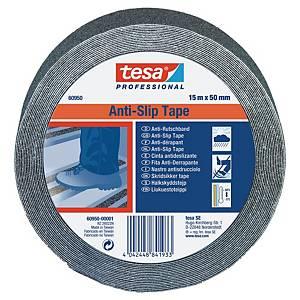 Protismyková páska na schody tesa® 60950, 50 mm x 15 m, černá