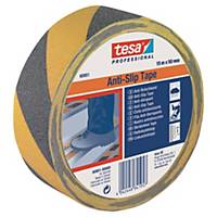 Skridsikker tape Tesa 60950, 50 mm x 15 m, sort/gul