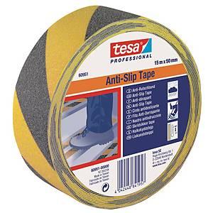 Tesa Anti-slip teippi 50mm x 15m musta/keltainen