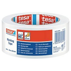 Tesa 60760 Floor Marking Tape, PVC, 50mm x 33m, white