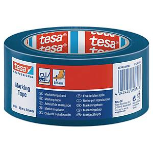 Ruban de marquage au sol Tesa 60760, PVC, 50 mm x 33 m, bleu