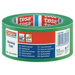 tesaflex® 60760 jelzőszalag, 50 mm x 33 m, zöld