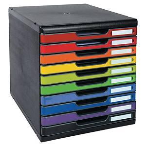 Lådsystem Exacompta MODULO Harlequin, 10 lådor, utvalda färger