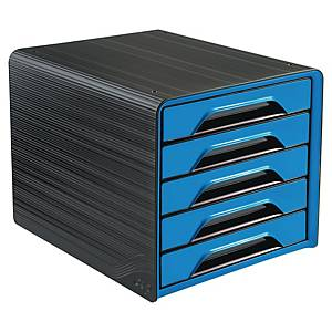 Cep Gloss 5-drawers unit - blue