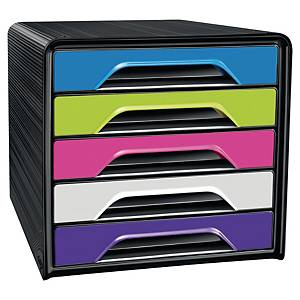 Cep Gloss 5-Drawers Unit Multicolour