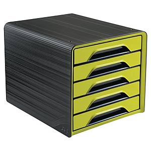 Cep Smoove 5-Drawers Unit Black/Green