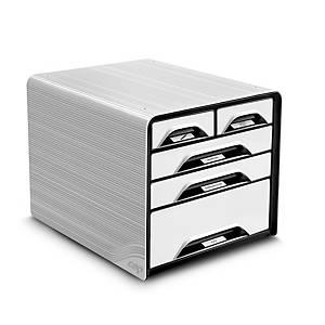 Cassettiera a 5 cassetti con pannelli Smoove