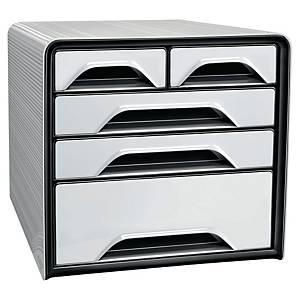 Lådsystem Cep Smoove Classic, 5 lådor, vitt/svart