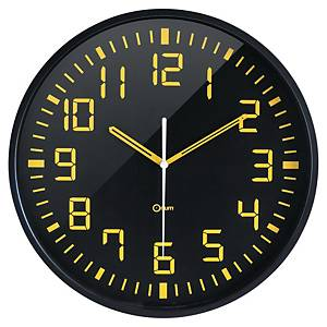 Nástenné hodiny CEP Yellow Clock, na 1 x LR6 batériu