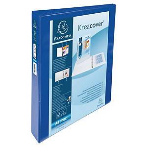Exacompta Kreacover PP A4 Maxi Presentation Ring Binder 4 D Rings, 47mm , Blue